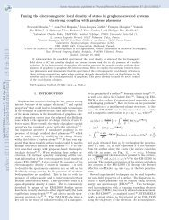 Tuning the electromagnetic local density of states in graphene ...