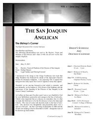 June 2013 Edition of The San Joaquin Anglican - Anglican Diocese ...