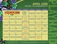 APRIL 2010 poker tournaments - Seminole Hard Rock Tampa