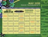 MAY 2010 poker tournaments - Seminole Hard Rock Hotel & Casino