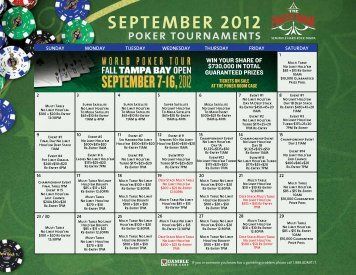 Tampa hard rock poker tournament schedule