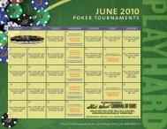 JUNE 2010 poker tournaments - Seminole Hard Rock Hotel & Casino