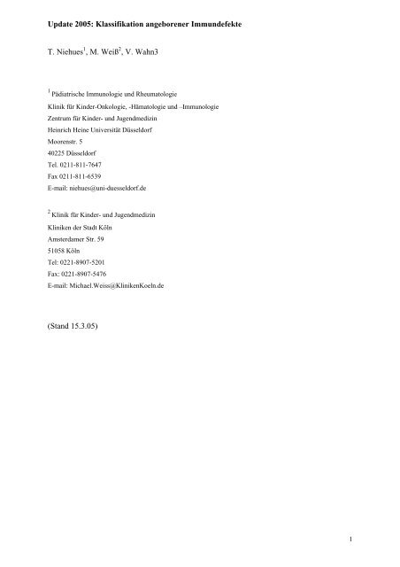 Diagnostik bei Verdacht auf Immundefekt - Helferzelle.eu