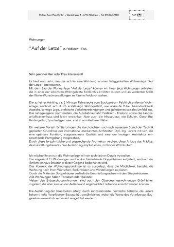 """""""Auf der Letze"""" in Feldkirch - Tisis"""