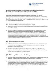 Fachwirt/-in Erneuerbare Energien und Energieeffizienz