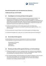 Bauschlichtungsstelle bei der Handwerkskammer Oldenburg ...