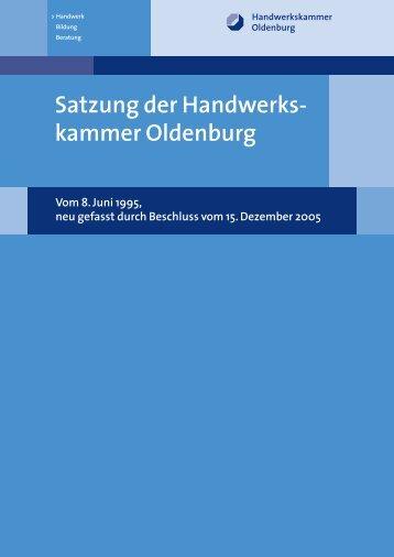Satzung der Handwerks- kammer Oldenburg