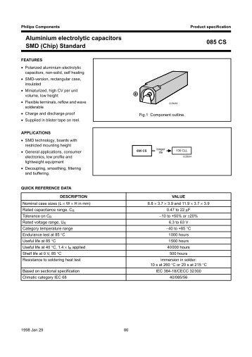 Aluminium electrolytic capacitors SMD (Chip) Standard ... - Leocom