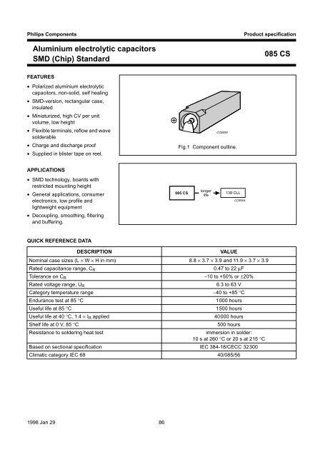 Aluminium Electrolytic Capacitors Smd Chip Standard Leocom