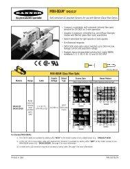 MINI-BEAM® Sensors SM2A312F - Banner Engineering