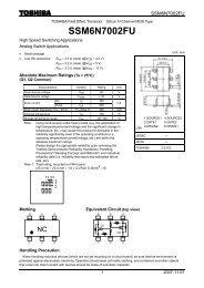 SSM6N7002FU Datasheet Toshiba