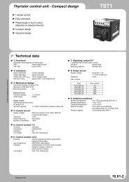 Thyristor control unit - Compact design Technical data ... - Octopart