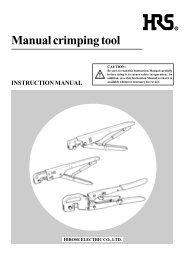 Manual crimping tool - Farnell