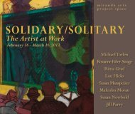 Solidary/Solitary The Artist at Work February 16 ... - Icompendium