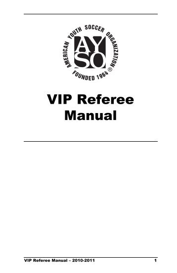 AYSO Sample Advanced Referee Exam