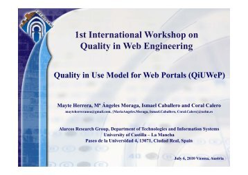 Quality in Use Model for Web Portals - gplsi
