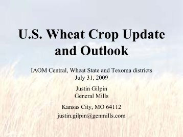 U.S. Hard Red Winter Wheat Crop Progress and Outlook