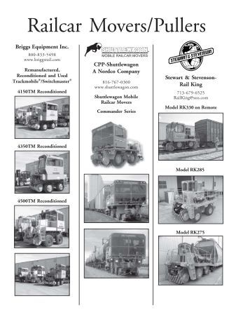 Railcar Movers/Pullers