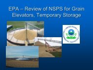EPA –– Review of NSPS for Grain Elevators, Temporary Storage