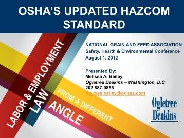 Update on Revised Hazard Communication Standards