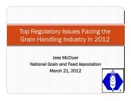 Top Regulatory Issues Facing the Grain Handling Industry in 2012