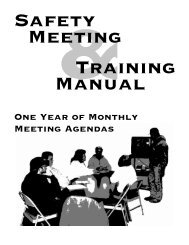 Safety Meeting & Training Manual