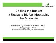 Back to the Basics: 3 Reasons Biofuel Messaging Has Gone Bad