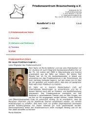 Rundbrief 01/12 - Friedenszentrum Braunschweig