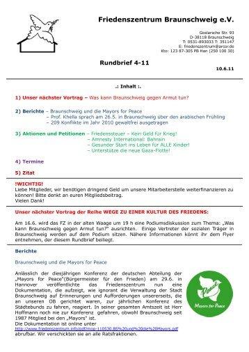 Rundbrief 04/11 - Friedenszentrum Braunschweig