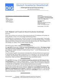 Deutsch-Israelische Gesellschaft - Friedenszentrum Braunschweig