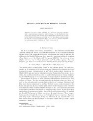 SECOND p-DESCENTS ON ELLIPTIC CURVES 1 ... - Magma