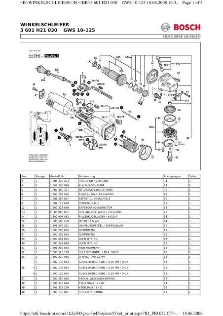 WINKELSCHLEIFER 3 601 H21 030 GWS 10-125 Page 1 of 3