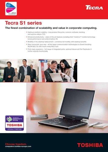 Tecra S1 series - Toshiba