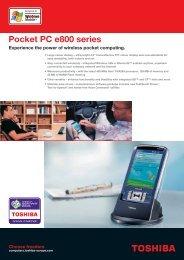 Pocket PC e800 series - Toshiba