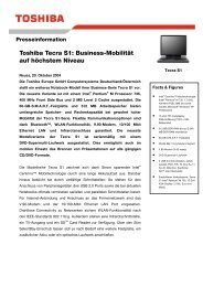 Toshiba Tecra S1: Business-Mobilität auf höchstem Niveau