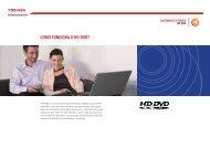 COMO FUNCIONA O HD DVD? - Toshiba