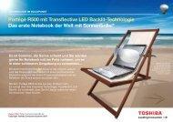 Portégé R500 mit Transflective LED Backlit-Technologie ... - Toshiba