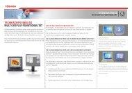 Technischer einblick MulTi Display-FunkTionaliTäT - Toshiba