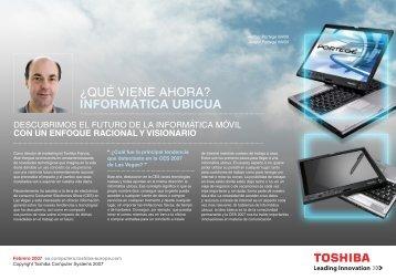 ¿QUÉ VIENE AHORA? INFORMÁTICA UBICUA - Toshiba