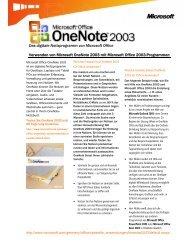Das digitale Notizprogramm von Microsoft Office ... - Toshiba