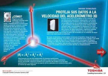 proteja sus datos a la velocidad del acelerómetro 3d - Toshiba
