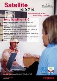 Serie Satellite 1410 - Toshiba