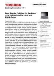 und L300D-Reihe - Toshiba