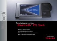 Bluetooth™ PC Card. - Toshiba