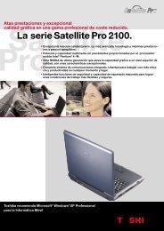 La serie Satellite Pro 2100. - Toshiba