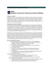 UMTS (Système Universel de Télécommunications Mobiles) - Toshiba