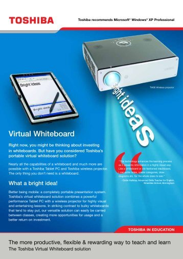 Virtual Whiteboard - Toshiba