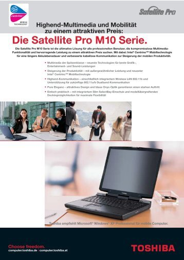Die Satellite Pro M10 Serie. - Toshiba