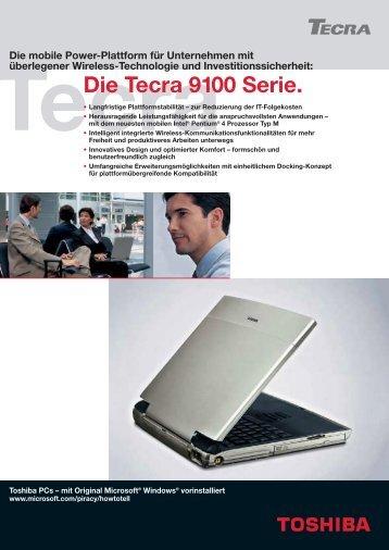 Die Tecra 9100 Serie. - Toshiba