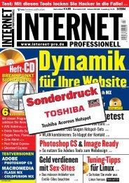 für Ihre Website - Toshiba